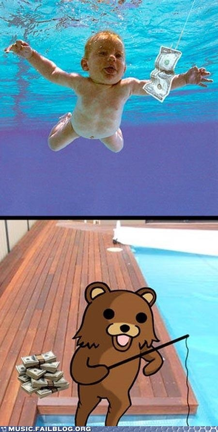 album,album cover,nevermind,nirvana,pedobear,pool