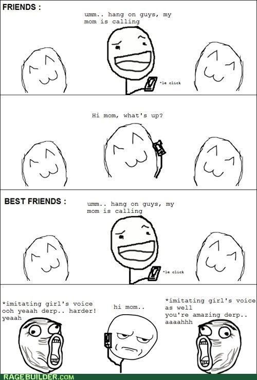 are you kidding me friends phone Rage Comics - 6133293824
