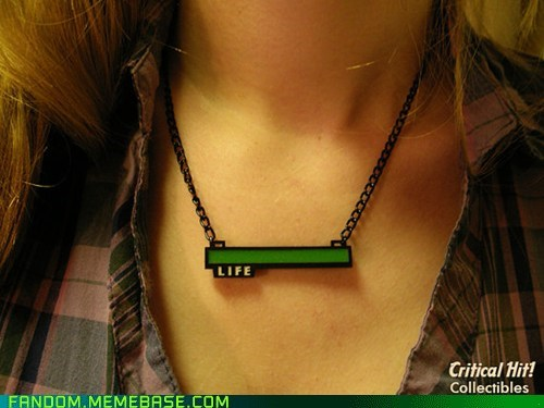 Fan Art health bar life necklace status bar video games - 6133330944