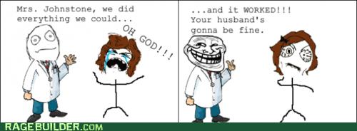 doctor hospital Rage Comics troll - 6133343744