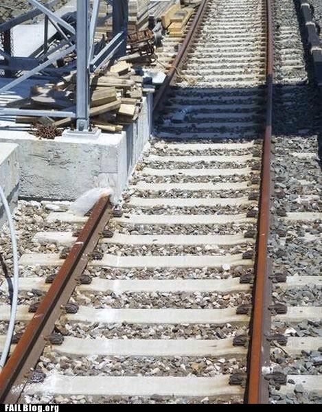 cement construction railroad tracks - 6133363200