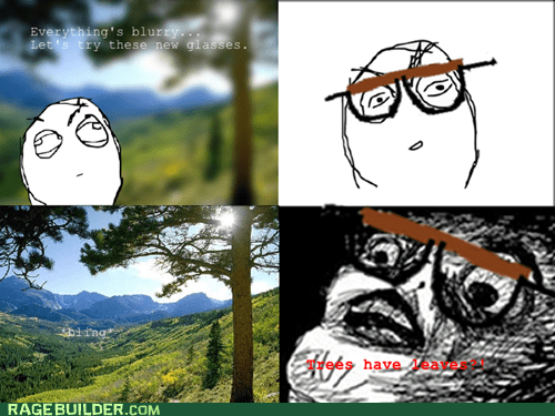 glasses Rage Comics raisin face vision - 6133367552