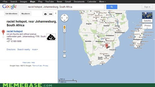 google Maps racist South Africa