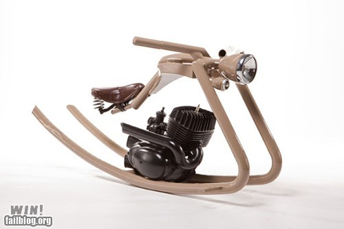 design motorcycle rocking horse toy vroom