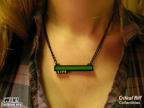 fashion,life bar,necklace,nerdgasm