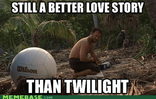 castaway,love story,Memes,twilight,wilson
