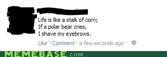 corn,facebook,poem,wtf
