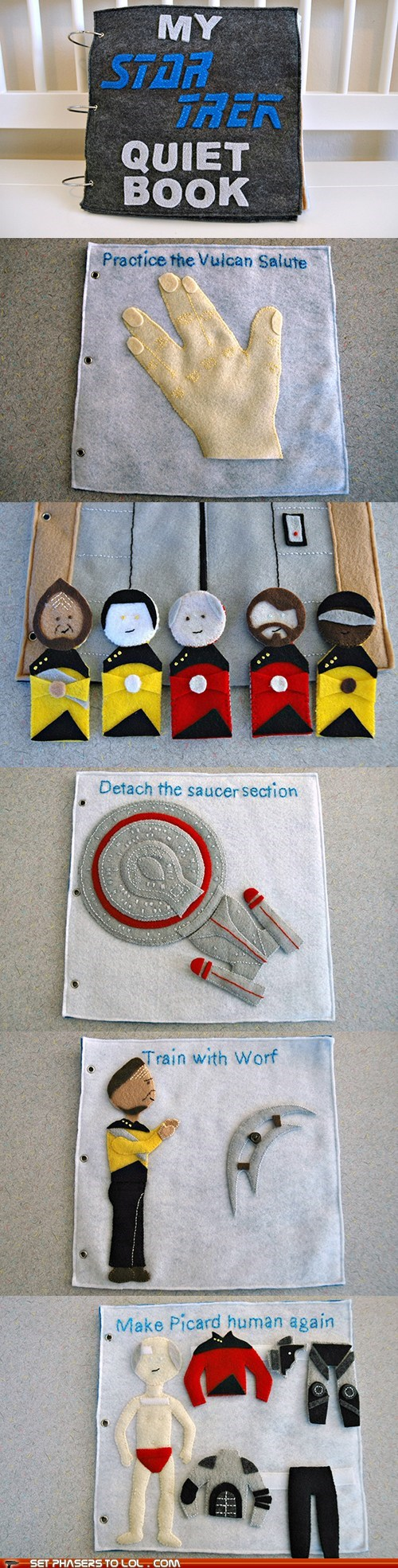 Babies best of the week childrens book pattern quiet book Star Trek TNG Worf - 6133599232