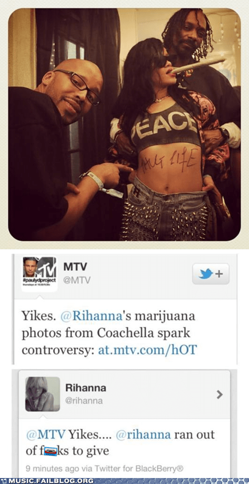 420 coachella Music rihanna snoop dogg twitter weed - 6133779968