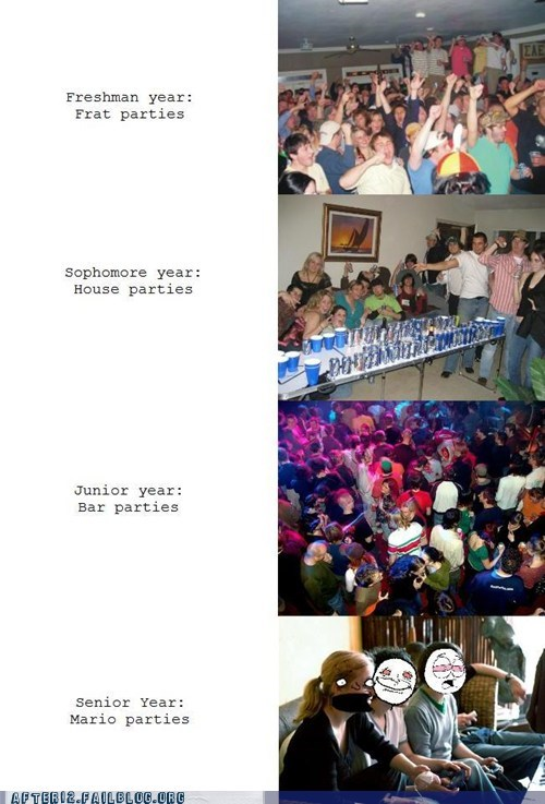 college,freshman,junior,parties,senior,sophomore