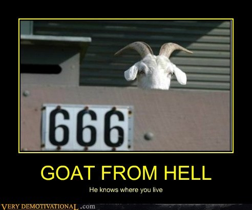 666 goat hell scary Terrifying - 6133832704