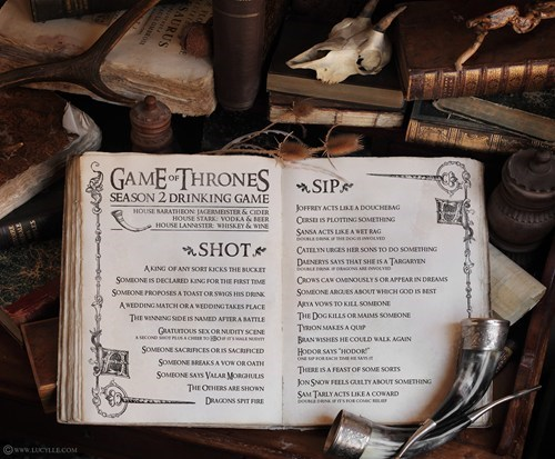 drinking game Game of Thrones tv shows - 6133845760