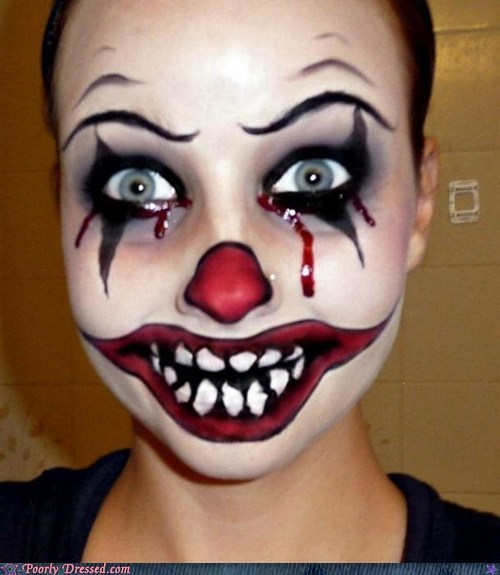 clown creepy makeup scary - 6133864192
