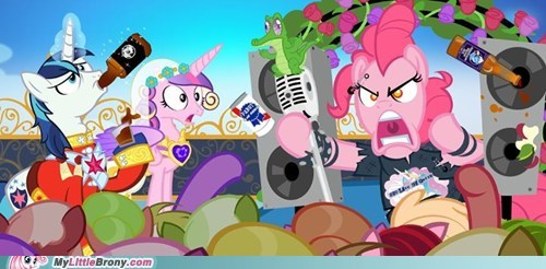 awesome pinkie pie ponies rock out royal wedding shining armor shopped - 6133874944