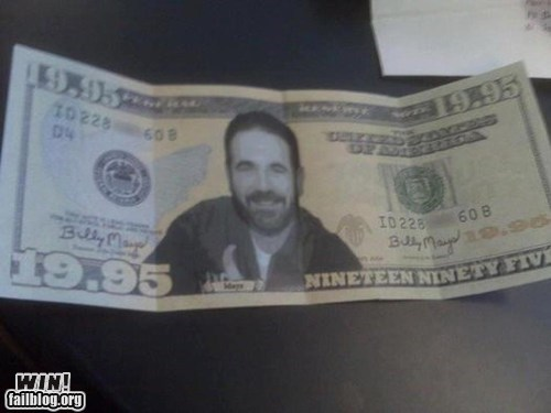 all caps Billy Mays Billy Mays Here dollar money - 6133875200