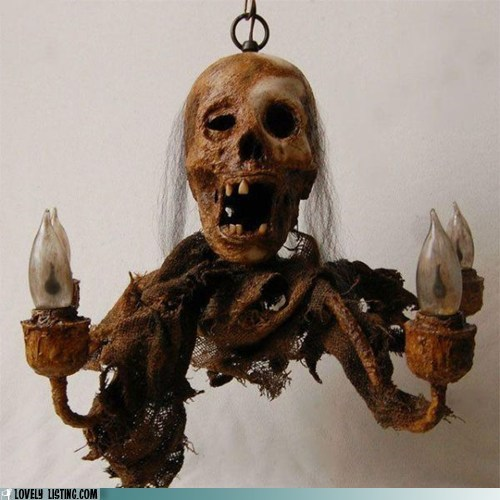 chandelier,light,scarf,scary,skull