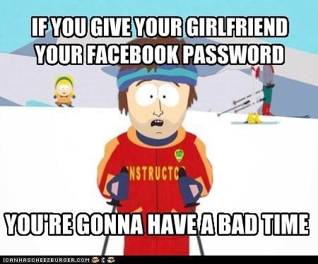 a bad time,facebook,Memes,password,ski instructor