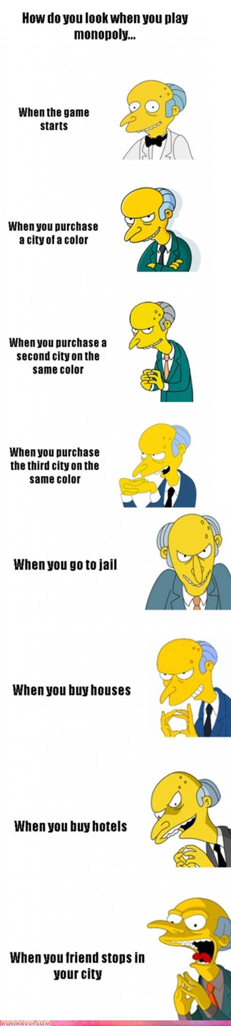 animation funny game Hall of Fame monopoly mr burns the simpsons TV - 6133954816
