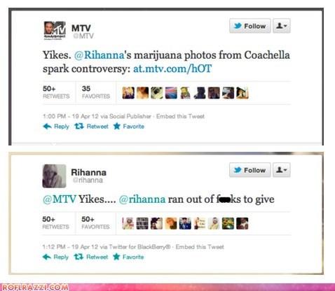 celeb funny mtv Music rihanna tweet twitter - 6134137088