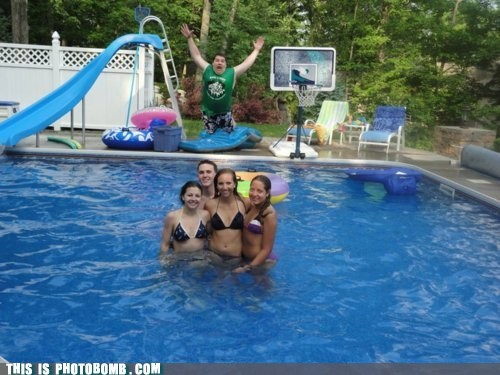 ahhhh bellyflop cannonball Perfect Timing pool splash swimming water - 6134215424