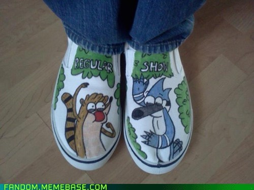 cartoons Fan Art regular show shoes - 6134219520