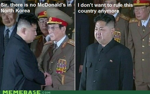 country,kim jong-un,McDonald's,Memes,North Korea
