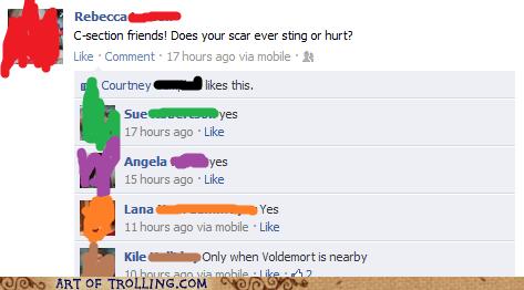 facebook,pain,scar,voldemort