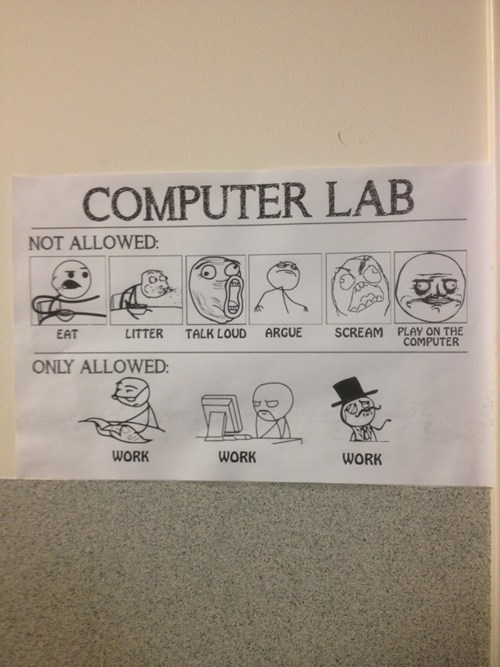 computer lab,sir,not allowed,only allowed