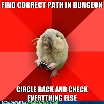 dungeons gaming gopher loot meme side items side quests video games - 6134601216