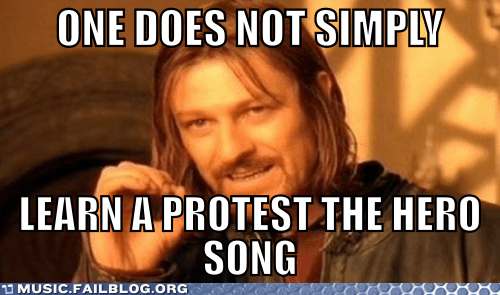 Boromir meme metal one does not simply protest the hero - 6134630656