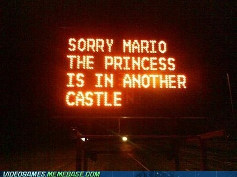 IRL mario meme princess sign