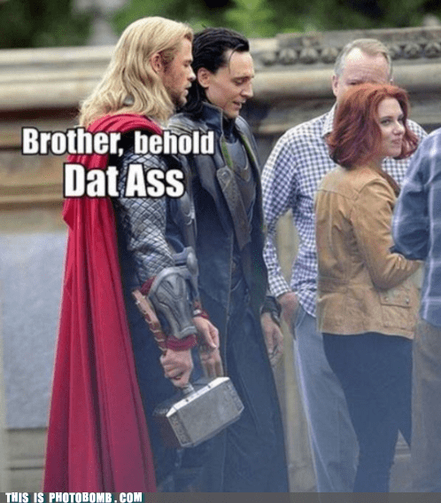 best of week,Black Widow,brother,dat ass,loki,scarlett johansson,sunday bunday,The Avengers,Thor,what an ass