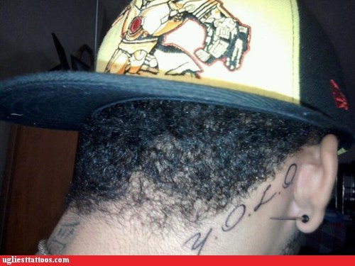 backwards hat,neck tattoo,yolo
