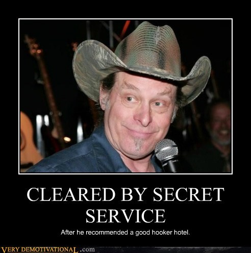 hilarious,secret service,ted nugent,wtf