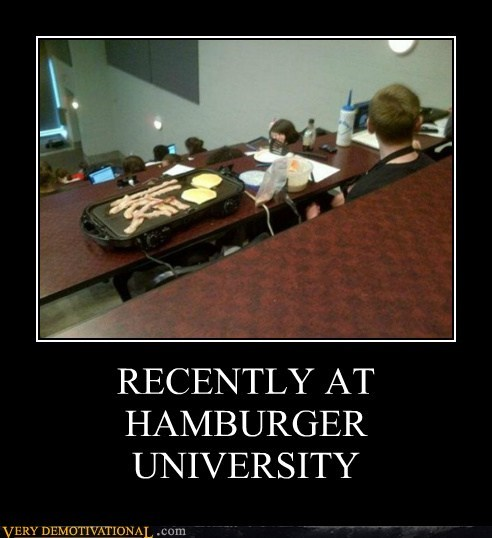 class hamburger university hilarious McDonald's wtf - 6136612864