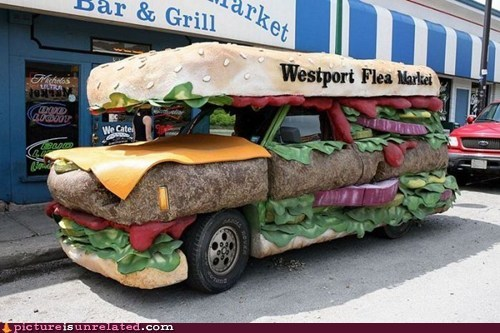 burger,car,wtf