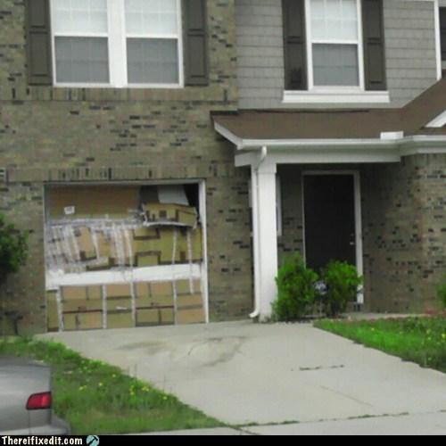 burglars garage door - 6136782592