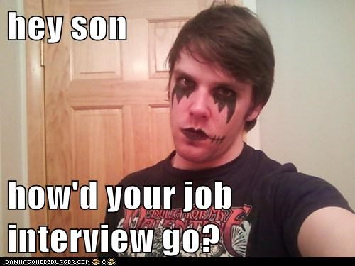 good,interview,job,makeup,weird kid