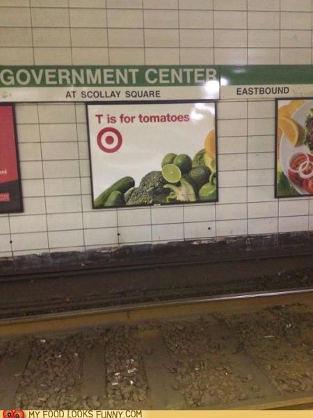 Ad greens sign Subway Target tomato vegetables - 6137389056