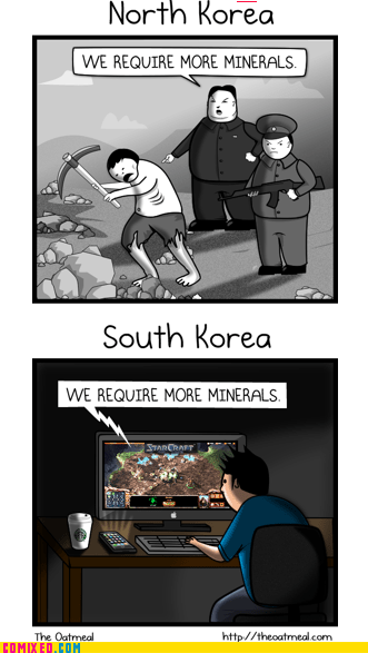 best of week,North Korea,south korea,starcraft,the internets,the oatmeal