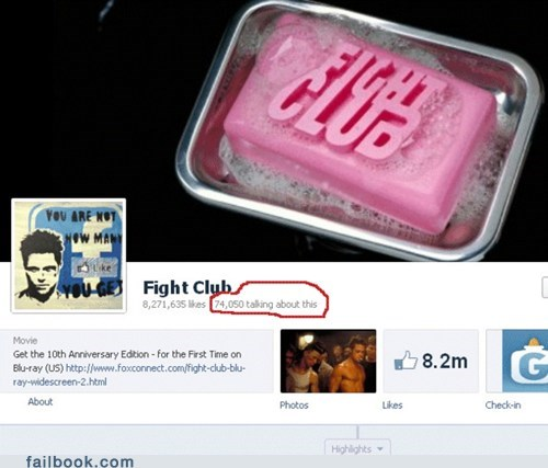 REMEMBER THE FIRST RULE OF FIGHT CLUB