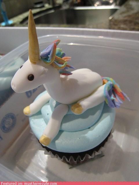 cupcake epicute fondant frosting horn unicorn - 6137570816