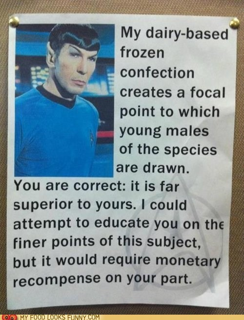 explain logical milkshake song Spock - 6137572608