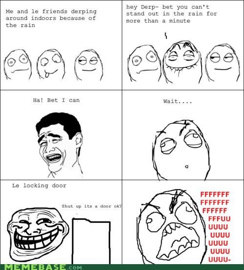 fu guy,Rage Comics,rain,trollface