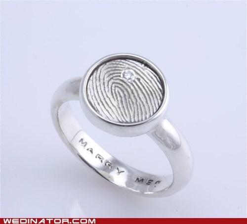 engagement ring funny wedding photos rings thumbprint - 6137672960