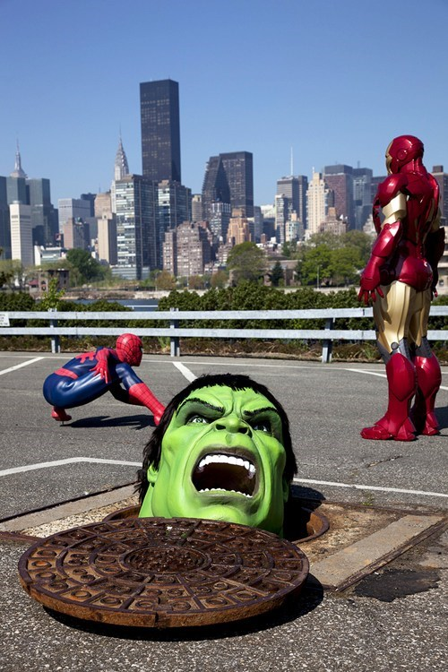 hulk,iron man,madame tussauds,marvel,Spider-Man,superheroes
