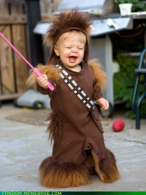 cosplay cute kid scifi star wars wookie - 6137792768