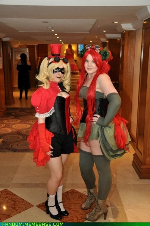 comics cosplay Harley Quinn poison ivy Steampunk - 6137810688