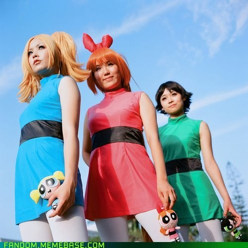 blossom bubbles buttercup cartoons cosplay powerpuff girls