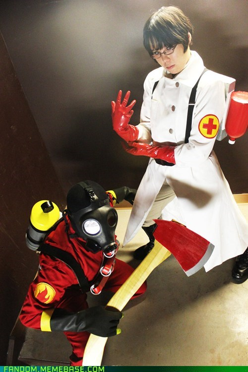 byro,cosplay,medic,TF2,video games